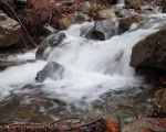 Water cascading down the mountainside in winter. Sierra Bermeja, Estepona