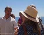 Official opening of the new boardwalk. Mayor of Estepona talking to some of the residents