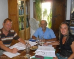 Derek, Salim and Sara sharing a Semi - Intensive Spanish So Simple Course in Estepona.